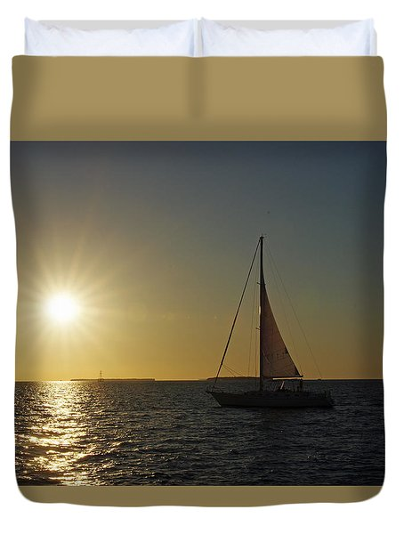 Into The Sun Duvet Cover by Greg Graham