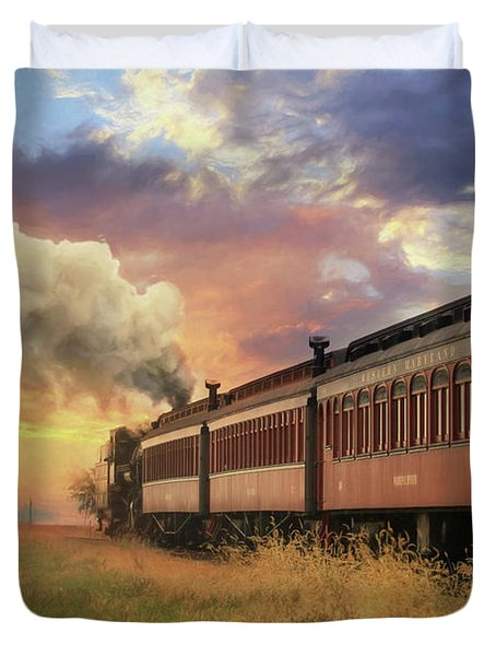 Into The Sunset Duvet Cover by Lori Deiter