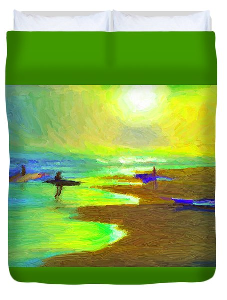 Into The Surf Duvet Cover