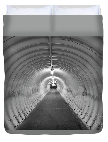 Duvet Cover featuring the photograph Into The Tunnel by Juli Scalzi