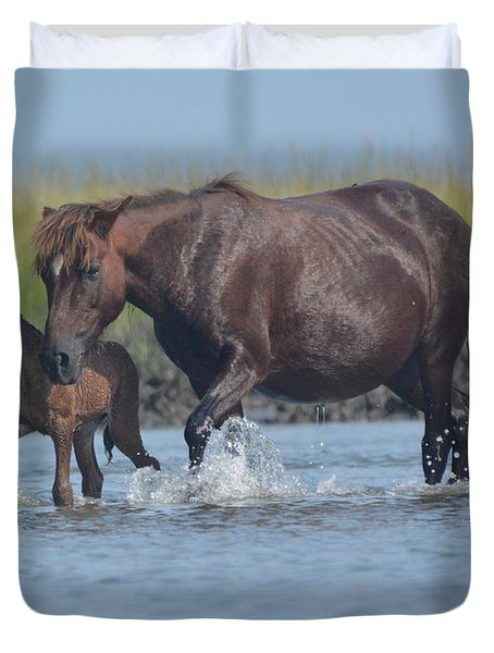 Into The Waters Duvet Cover
