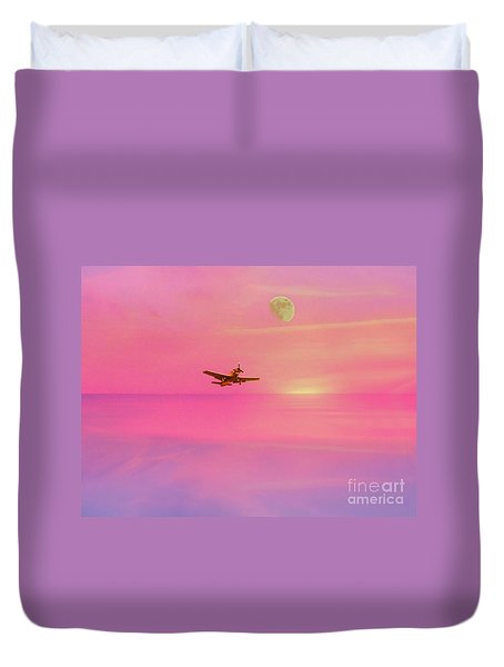 Into The Wild Pink Yonder Duvet Cover