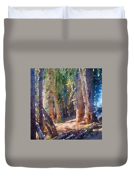 Into The Woods Again Duvet Cover