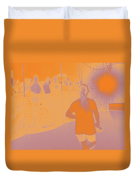 Into The Zone Duvet Cover