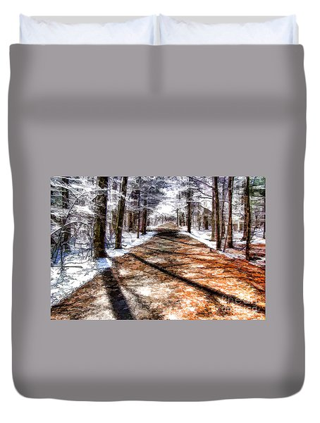Into Winter Duvet Cover by Betsy Zimmerli