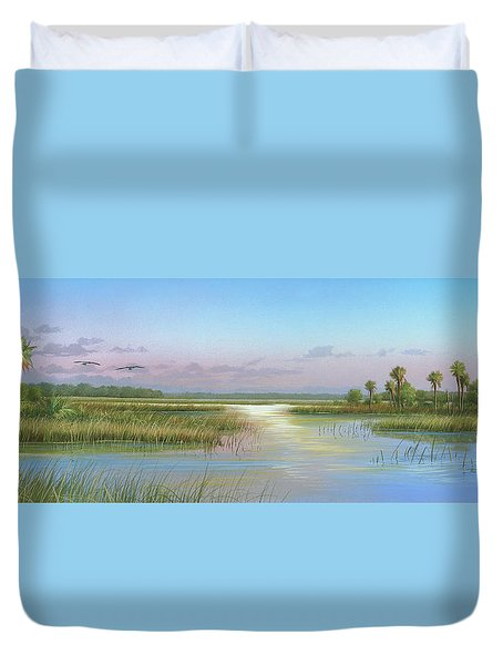 Intracoastal Glimmer Duvet Cover