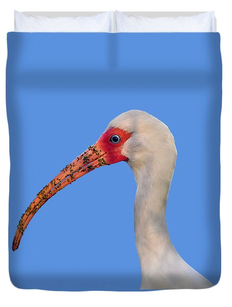 Duvet Cover featuring the photograph Intriguing Ibis .png by Al Powell Photography USA