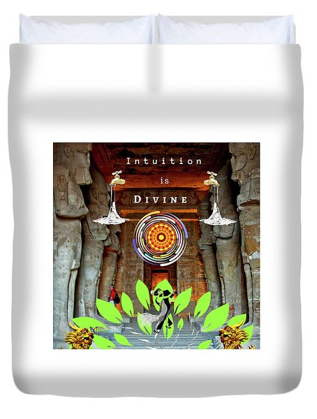 Intuition Is Divine Duvet Cover