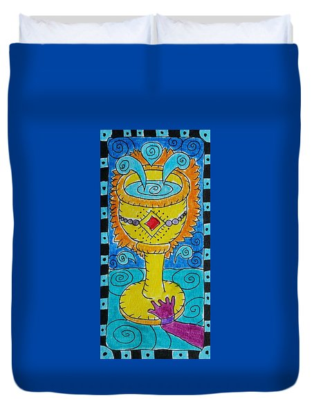 Intuitive Catalyst Card - Ace Of Cups Duvet Cover