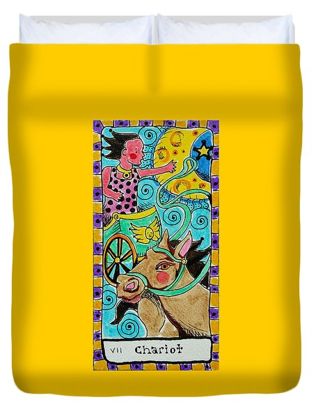 Intuitive Catalyst Card - Chariot Duvet Cover