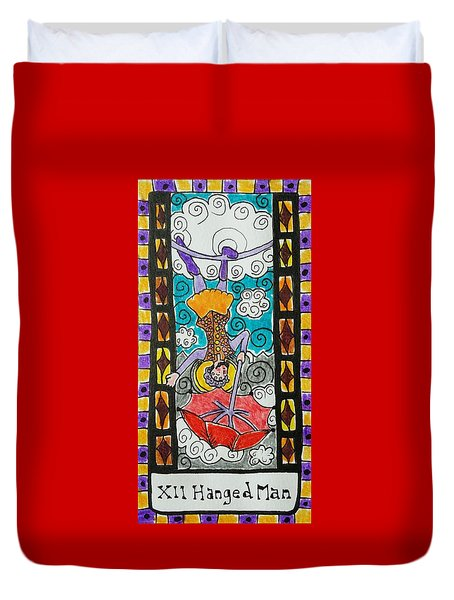 Intuitive Catalyst Card - Hanged Man Duvet Cover