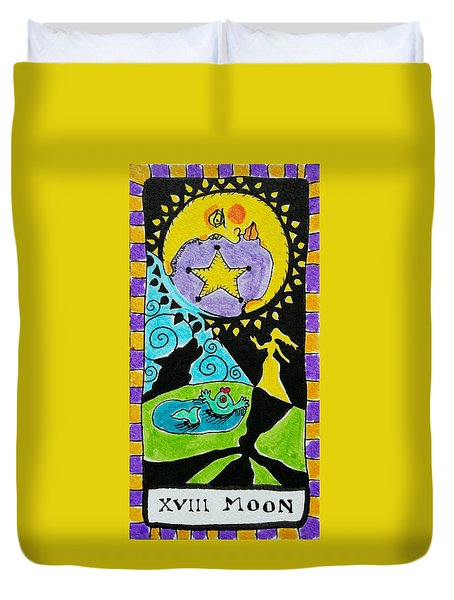 Intuitive Catalyst Card - Moon Duvet Cover