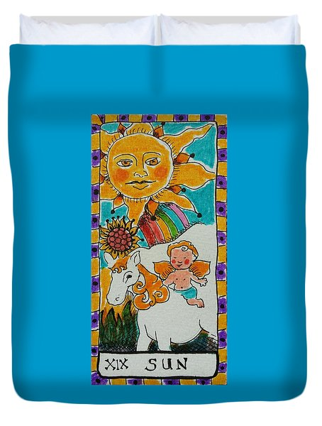 Intuitive Catalyst Card - Sun Duvet Cover