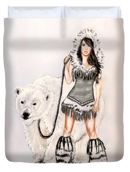 Inuit Pin-up Girl Duvet Cover