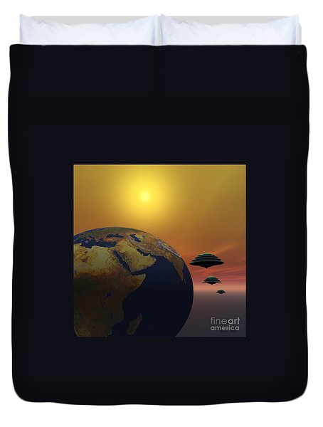 Invasion Duvet Cover by Corey Ford