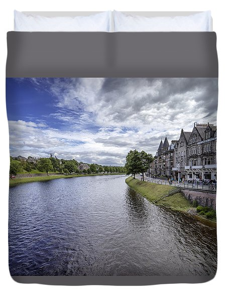 Duvet Cover featuring the photograph Inverness by Jeremy Lavender Photography