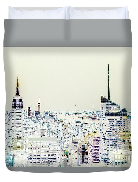 Duvet Cover featuring the photograph Inversion Layer by Alex Lapidus