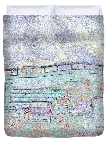 Invesco Field Duvet Cover by Lenore Senior