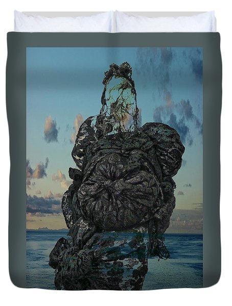 Duvet Cover featuring the photograph Invisable Lady by Joan Reese