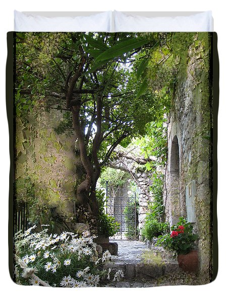 Inviting Courtyard Duvet Cover