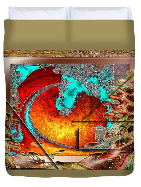 Duvet Cover featuring the digital art Inw_20a0600a_siblings by Kateri Starczewski