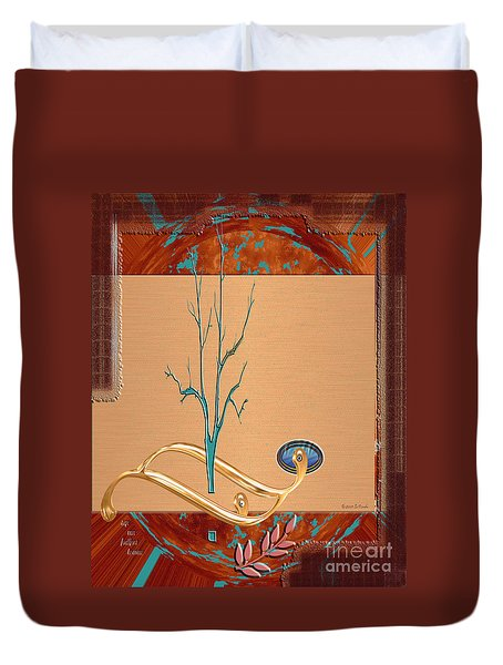 Duvet Cover featuring the digital art Inw_20a5563_sap-run-feathers-to-come by Kateri Starczewski