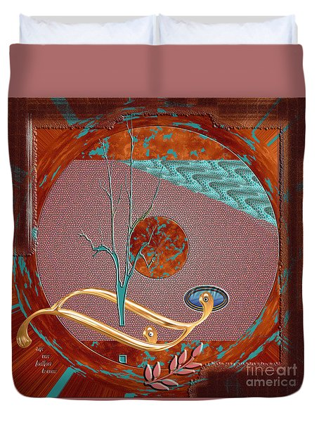 Duvet Cover featuring the digital art Inw_20a5564sq_sap-run-feathers-to-come by Kateri Starczewski