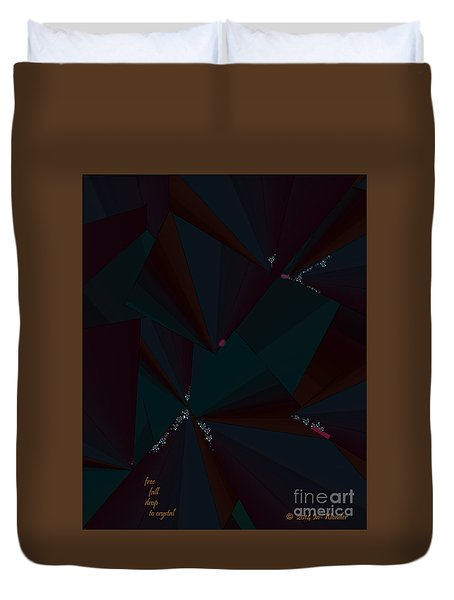 Duvet Cover featuring the digital art Inw_20a6148 Free Fall Drop To Crystal by Kateri Starczewski