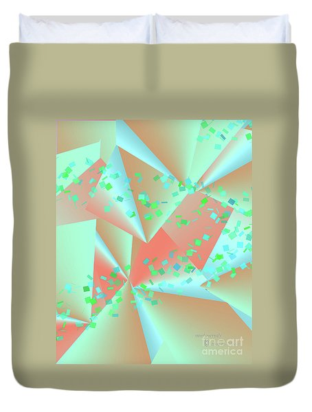 Duvet Cover featuring the digital art inw_20a6151-MH17 sweet currents by Kateri Starczewski