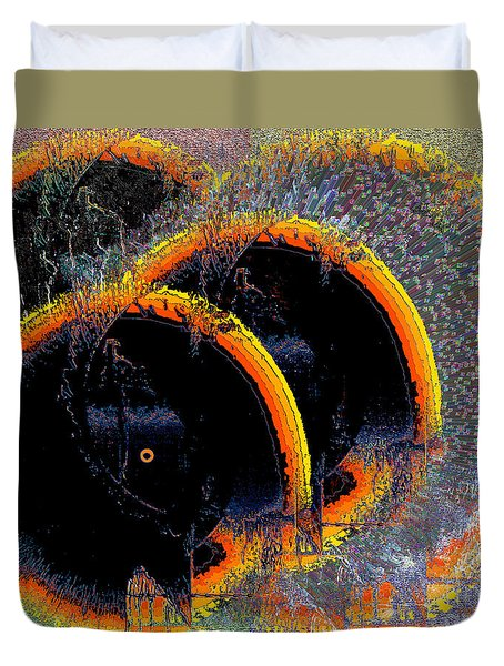 Duvet Cover featuring the digital art Inw_20a6449_sighted by Kateri Starczewski