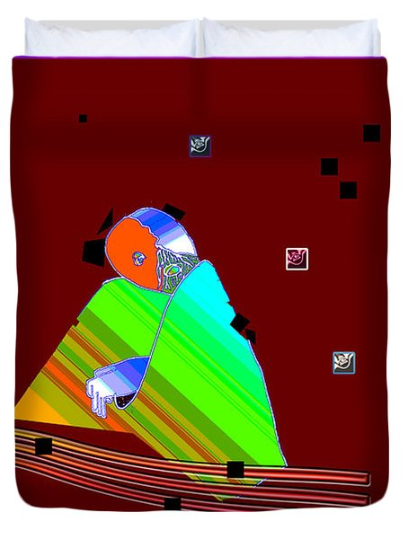 Duvet Cover featuring the digital art Inw_20a6451_between-rocks by Kateri Starczewski