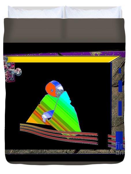 Duvet Cover featuring the digital art Inw_20a6454_between-rocks by Kateri Starczewski