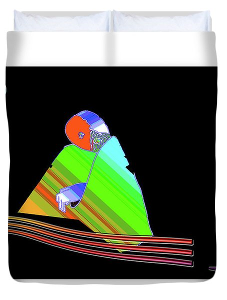 Duvet Cover featuring the digital art inw_20a6501 Be between Rocks by Kateri Starczewski