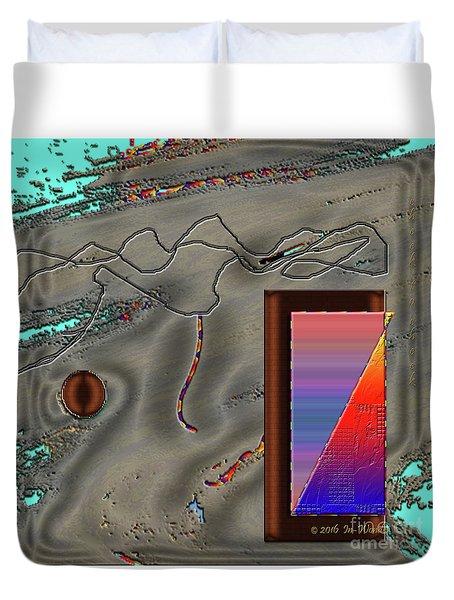 Duvet Cover featuring the digital art Inw_20a6504 Cheek To Cheek by Kateri Starczewski