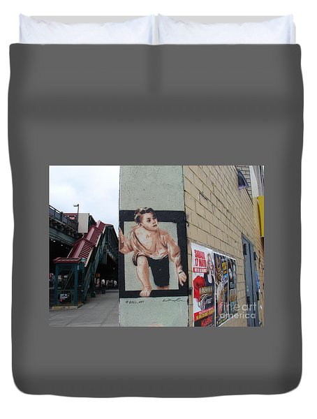 Inwood Graffiti  Duvet Cover by Cole Thompson