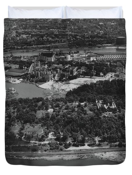 Inwood Hill Park Aerial, 1935 Duvet Cover
