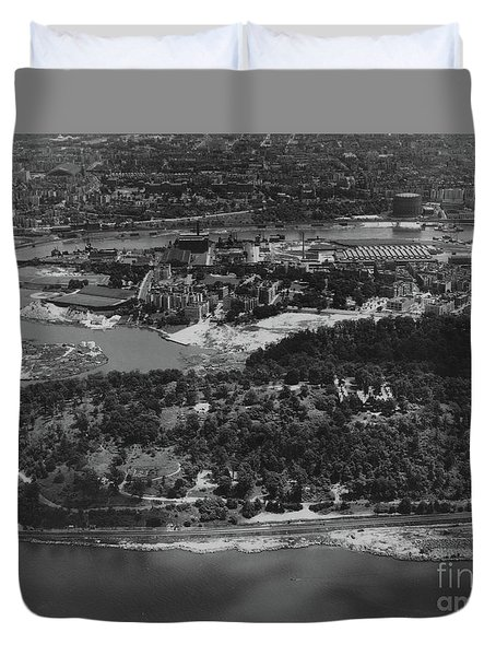 Inwood Hill Park Aerial, 1935 Duvet Cover by Cole Thompson