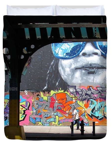 Inwood Street Art  Duvet Cover