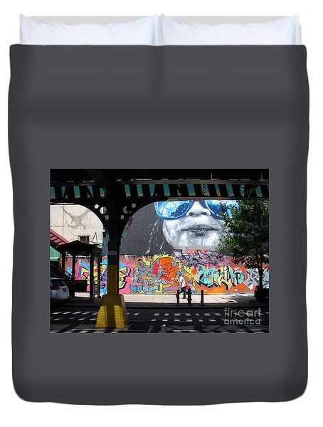 Inwood Street Art  Duvet Cover by Cole Thompson
