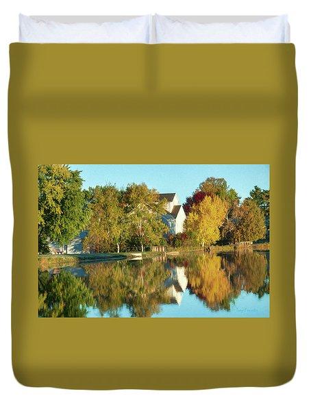Iola Mill Fall View Duvet Cover