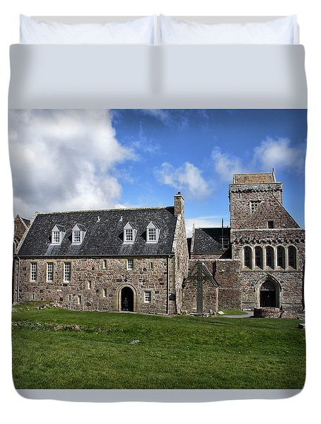 Iona Abbey Scotland Duvet Cover