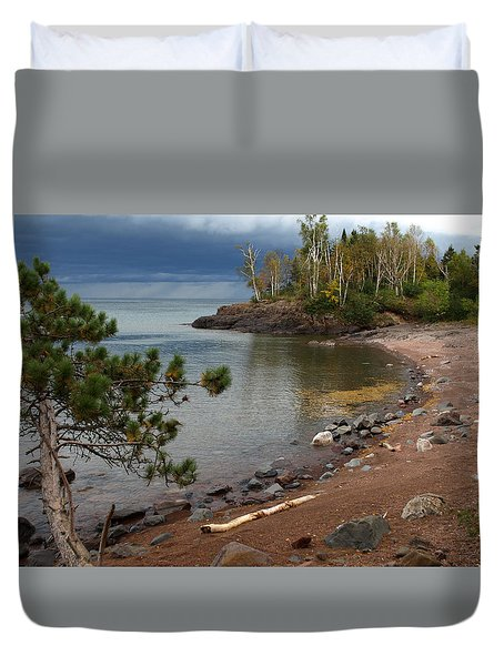 Duvet Cover featuring the photograph Iona's Beach by James Peterson