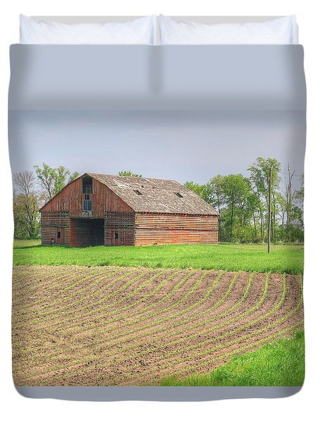 Iowa Corn Sprouts Duvet Cover