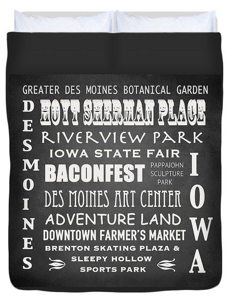 Iowa Famous Landmarks Duvet Cover