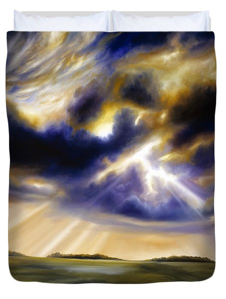 Iowa Storms Duvet Cover