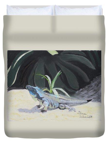 Iquana Lizard At Sarasota Jungle Duvet Cover