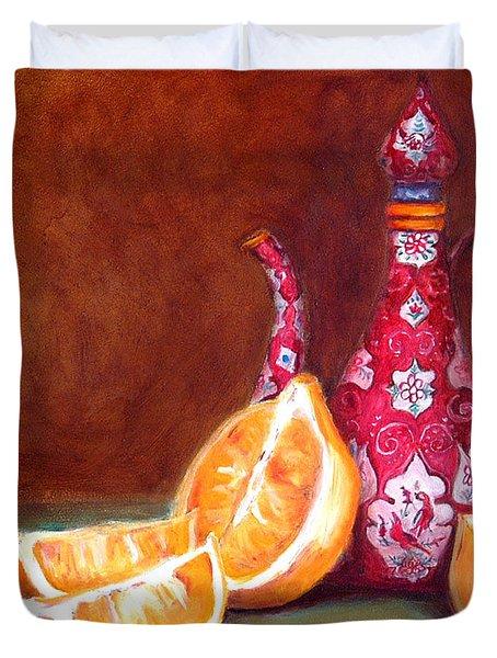 Iranian Lemons Duvet Cover