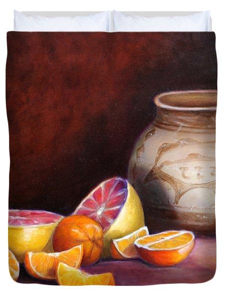 Iranian Still Life Duvet Cover by Enzie Shahmiri