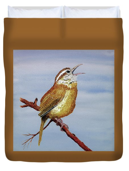 Irate Wren Duvet Cover by Thom Glace