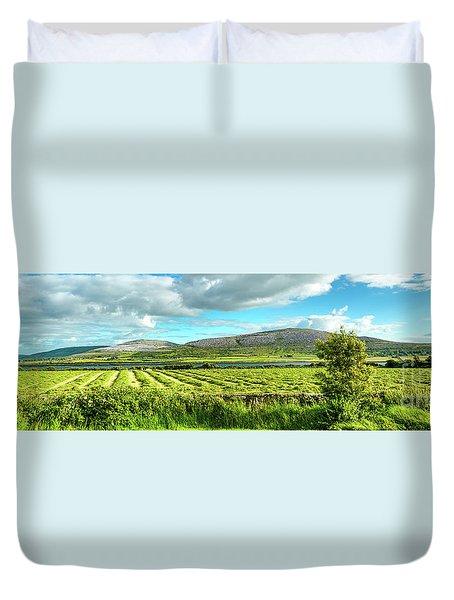 Ireland  - Burren Panorama Duvet Cover